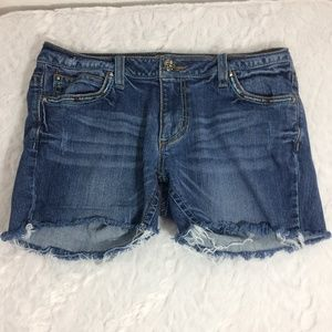 Wrangler Rock 47 Distressed Low Rise Cutoff Shorts